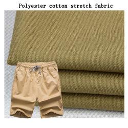 Tessuto dei pantaloni e di Shorts di stirata del cotone del poliestere