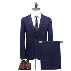 Vestito convenzionale Single-Breasted dei vestiti degli uomini del commercio all'ingrosso di prezzi bassi per la cerimonia nuziale dell'ufficio & l'usura del partito