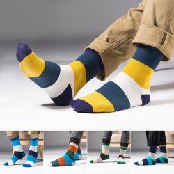 Fashion novos homens de verão às riscas de fibra de bambu de algodão meias meias de baixo nível de algodão meias invisível Sock chinelos para homens