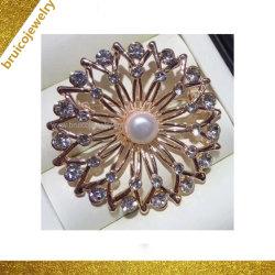 Номера делюкс моды оптовой 925 Silver/золотых ювелирных изделий с жемчугом Brooch алмазов для женщин