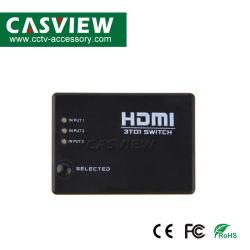 3X1 Commutateur HDMI avec télécommande infrarouge 3 entrées HDMI 1 sortie HDMI Full HD 1080p prennent en charge HDMI 1.3b télécommande IR inclus Key-Press-Fonction de commutation