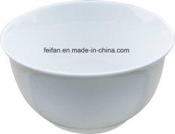 スープ、穀物、米のための白によって艶をかけられる陶磁器の込み合いボール