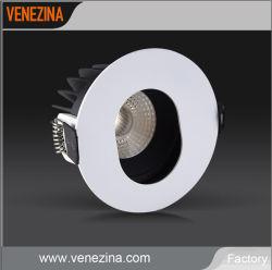 Verstellbarer Scheinwerfer mit Stiftbohrung und niedriger Leistungsaufnahme, COB-LED-Einbauleuchte 6W 10W mit schwarzem Blendschutz Innenring IP44 Downlight für Innenraumbeleuchtung