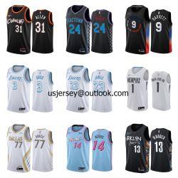 2021 Nouvelle édition de la ville d'arrivée Cavaliers Kings Knicks VÊTEMENTS MAILLOTS DE L'équipe de basket-ball