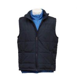 Two-in-One Padded Vest voor heren met opvouwbare pet