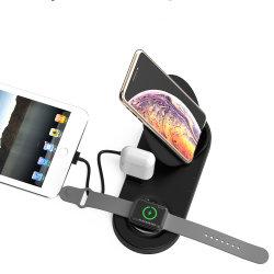Soporte cargador inalámbrico para teléfono móvil y Apple Ver Airpods