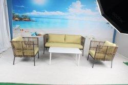 Garden Hotel Resort Villa half Round Rattan Bank Outdoor meubilair Met zacht kussen