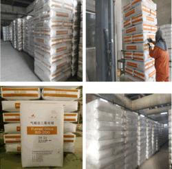 Dióxido de silicio estándar de calidad industrial de humos Microsilica clasificación