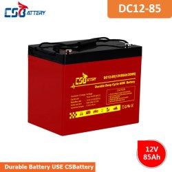 AGM van de Cyclus van Csbattery 12V85ah Diepe Batterij Met lange levensuur voor zonne-energie-Pak/zonne-macht-Light/UPS-Systeem
