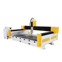 Bancada de granito mármore multifunção barata Orifício do dissipador de máquina de polir de corte CNC Máquina de gravura de escultura de pedra do roteador