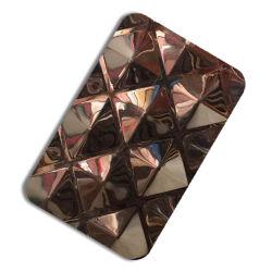 201 304 Feuille couleur estampillé et le gaufrage plaque en acier inoxydable acier décoratif