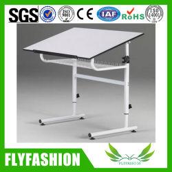 Le bois haut de page Rédaction Table avec cadre en métal Bureau de dessin (CT-45)