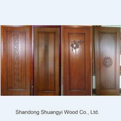 Prix de gros de la Chine de la fabrication de la sécurité intérieure de porte en bois massif