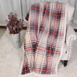 La flanelle bébé imprimé de polyester velours de la Shu coréen 2 plis épaisse couverture