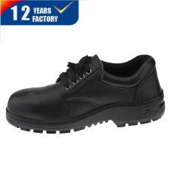 S1p Sra Ce certificado superior de cuero auténtico de corte bajo la suela de caucho Material de trabajo Calzado de seguridad