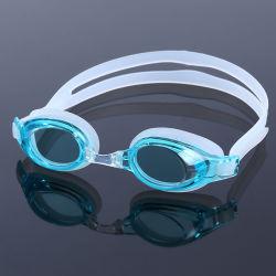 Capretti su ordinazione del silicone che nuotano gli occhiali di protezione antinebbia di nuotata di vetro di nuotata del raggruppamento degli occhiali di protezione