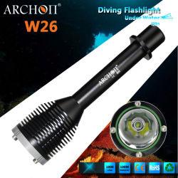 Archon W26のダイビングの懐中電燈の最大1000の内腔は100metersを防水する