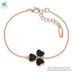MGO Gem Global mayorista de joyas de oro rosa negro blanco rojo el color Crystal encantadora dama pulsera en el precio de fábrica