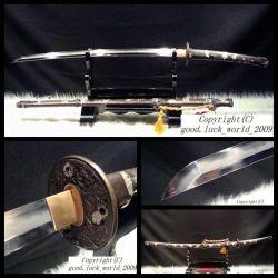 최상 찰흙에 의하여 강철 일본 사무라이 칼 Katana 부드럽게 하는 접힌 구리 칼집