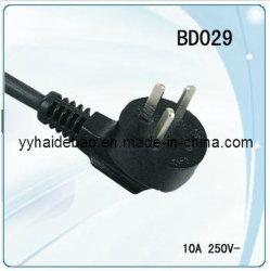 Sii Isreal cordons d'alimentation/alimentation CA RoHS/câble 3 broches Fiche d'alimentation