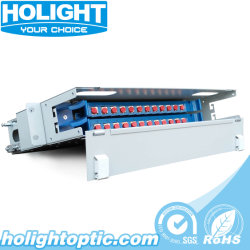 24 coeurs de distribution de fibre optique de panneau de brassage de montage en rack du châssis (ODF)