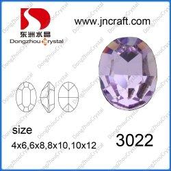 Bem polido Oval Violeta pedra para Design de jóias de fantasia