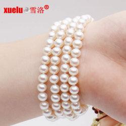 5-6mm 4brins d'élevage de mode d'eau douce Bracelet perles Bijoux