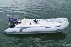 Liya 4.3m жесткого корпуса надувные лодки коммерческих рыболовного судна для продажи