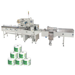 Toilet Roll Paper Packing Lineの浴室Tissue Paper Packaging Machine