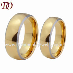 Mens et les femmes Tungsten Bandes de mariage deux anneaux en or pour les Amoureux