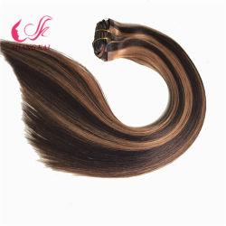 Perevian 100% прав Virgin PU Реми Weft волос