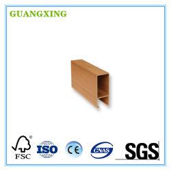 Materiales de Construcción de plástico paneles de madera ranurado MDF WPC de interior y exterior del techo de paneles de PVC para muebles