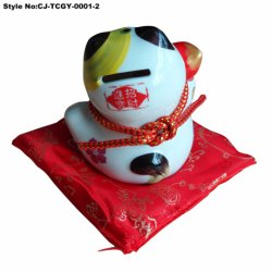 Peu de Bonne Fortune Cat de la Porcelaine Craft