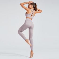 Grils Lycra apertada para vestuário de desporto Fitness Exercícios de ioga Ginásio Jogging