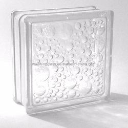 Bâtiment de couleur claire Hollow petit couloir décoratifs de briques de verre en cristal