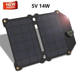 5V14W 초경량 디자인 ETFE 방수 태양광 패널 충전기 Huawei iPhone Android용 듀얼 USB Sunpower 충전기