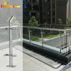 OEM de Leuning van de Balustrade van het Glas voor het Traliewerk van het Roestvrij staal van het Balkon/van de Gang