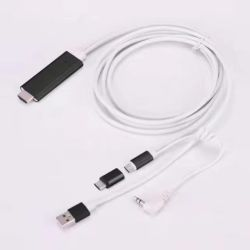 アンドロイドまたはタイプC Smartphoneのための2in1マイクロB&USB-CデジタルAVのケーブル