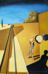 La reproduction de l'huile de Dali Peinture pour décoration murale