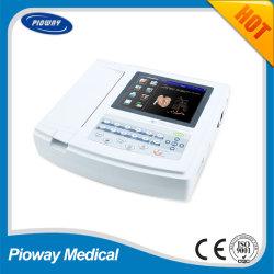 Macchina portatile dei cavi ECG dei canali 12 dell'elettrocardiografo 12 della Cina (ECG1200G)