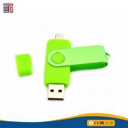 ODM-Soem passte Firmenzeichen-GroßhandelsschwenkerTwister OTG Pendrive Flash-Speicher-Stock USB-Blitz-Laufwerk USB-3.0 für iPhone Adnroid Computer-Tablette iPad an