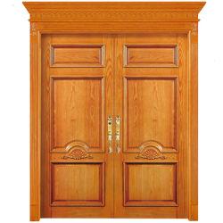 遅の贅沢両開きドアを切り分ける新しいデザイン100%年のカシの純木エントリ