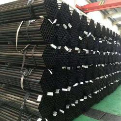ERW/geschweißtes Fluss-Stahl-Schwarz-rundes Rohr für Möbel und Aufbau
