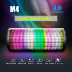 Portable M4 LED colorées du vérin de haut-parleur Bluetooth Altavoz d'appel mains libres