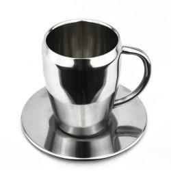 220 ml-Edelstahl-Kaffeetasse-Set