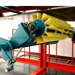 De roterende Reinigingsmachine van de Riem van de Borstel van de Rol voor de Riem van de Chevron van de Transportband
