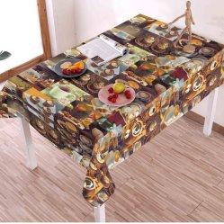 방수 고품질 및 Oilproof Oilcloth 리넨 직물 PVC 테이블 피복