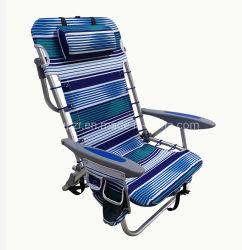 Алюминий рюкзак регулируемая складная пляже кемпинга стул с подушкой и подстаканник