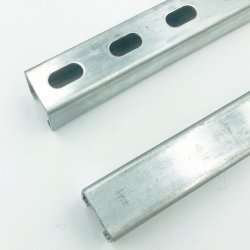 UL 規格建築資材亜鉛めっきセクションプレーンチャネル / 溝付きサポートチャネル