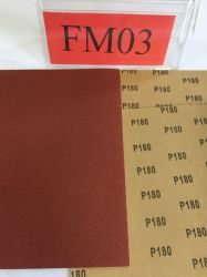 研磨紙、赤色、酸化アルミ、 C 形、クラフトペーパーウォール 研磨